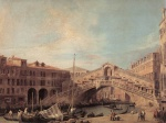 Canaletto - paintings - Grand Canal (The Rialto Bridge from the South)