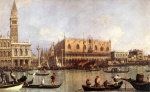 Canaletto - paintings - Palazzo Ducale and the Piazza di San Marco