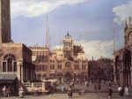 Canaletto - paintings - Piazza San Marco (The Clocktower)
