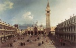 Canaletto - paintings - Piazza San Marco with the Basilica