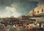 Canaletto  - Bilder Gemälde - Reception of the Ambassador in the Doges Palace