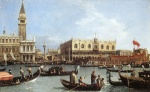 Canaletto  - Bilder Gemälde - Return of the Bucentoro to the Molo on Ascension Day