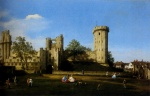 Canaletto  - Bilder Gemälde - The Eastern Facade Of Warwick Castle