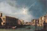 Canaletto  - Bilder Gemälde - The Grand Canal from Rialto toward the North