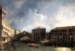 Canaletto  - Bilder Gemälde - The Grand Canal near the Ponte di Rialto
