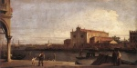 Canaletto  - Bilder Gemälde - View of San Giovanni dei Battuti at Murano
