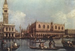 Canaletto  - Bilder Gemälde - View of the Bacino di San Marco