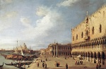 Canaletto  - Bilder Gemälde - View of the Ducal Palace