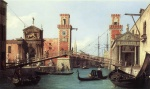 Canaletto  - Bilder Gemälde - View of the Entrance to the Arsenal
