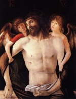 Giovanni Bellini - Bilder Gemälde - The Dead Christ Supported by Two Angels