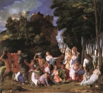 Giovanni Bellini - Bilder Gemälde - The Feast of the Gods