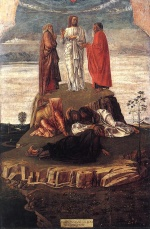 Giovanni Bellini  - Bilder Gemälde - Transfiguration of Christ