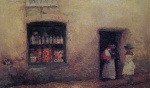 James Abbott McNeill Whistler - paintings - An Orange Note (The Sweet Shop)