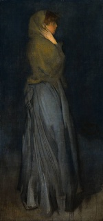 James Abbott McNeill Whistler - paintings - Arrangement in Yellow and Grey (Effie Deans)