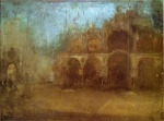 James Abbott McNeill Whistler - paintings - Blue and Gold (St Marks Venice)