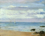 James Abbott McNeill Whistler - paintings - Blue and Silver (Trouville)