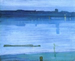 James Abbott McNeill Whistler - paintings - Blue and Silver Chelsea
