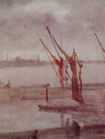 James Abbott McNeill Whistler - paintings - Chelsea Wharf (Grey and Silver)