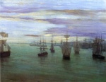 James Abbott McNeill Whistler - paintings - Crepuscule in Flesh Colour and Green (Valparaiso)