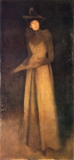 James Abbott McNeill Whistler - paintings - Harmony in Brown (The Felt Hat)