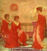 James Abbott McNeill Whistler - paintings - Harmony in Flesh Colour and Red