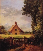John Constable - paintings - A Cottage in a Cornfield