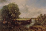 John Constable - paintings - A View on the Stour near Dedham