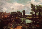 John Constable - Bilder Gemälde - A Water Mill