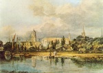 Joseph Mallord William Turner  - Bilder Gemälde - South View of Christ Church from the Meadows