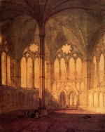 Joseph Mallord William Turner  - Bilder Gemälde - The Chapter House, Salisbury Chathedral