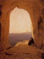 Karl Blechen - Bilder Gemälde - Grotto in the Gulf of Naples