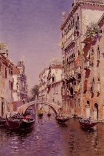 Martin Rico y Ortega - paintings - The Sunny Canal