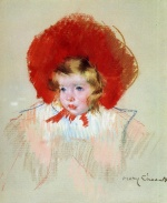 Mary Cassatt  - Bilder Gemälde - Child with Red Hat
