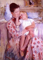 Mary Cassatt  - Bilder Gemälde - Emmie and Her Child