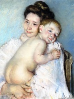 Bild:Mother Berthe Holding Her Baby