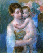 Bild:Mother Holding Her Baby