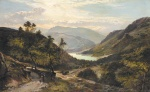 Sidney Richard Percy - Bilder Gemälde - The Path Down to the Lake (North Wales)