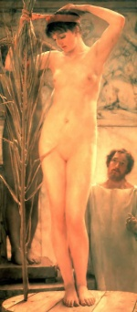 Sir Lawrence Alma Tadema  - Bilder Gemälde - A Sculptors Model
