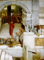 Sir Lawrence Alma Tadema  - Bilder Gemälde - After the Audience