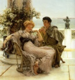Sir Lawrence Alma Tadema  - Bilder Gemälde - Courtship (The Proposal)
