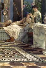 Sir Lawrence Alma Tadema  - Bilder Gemälde - From An Absent One