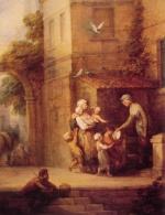 Thomas Gainsborough - paintings - Charity relieving Distress