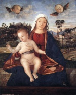 Vittore Carpaccio - Bilder Gemälde - Madonna and Blessing Child