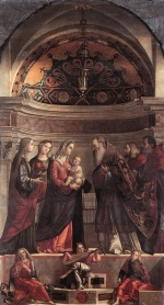 Vittore Carpaccio - Bilder Gemälde - Presentation of Jesus in the Temple