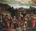 Vittore Carpaccio - Bilder Gemälde - The Stoning of St Stephen