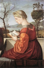 Vittore Carpaccio - Bilder Gemälde - The Virgin Reading