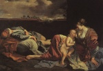 Orazio Gentileschi - paintings - Rest on the Flight into Egypt