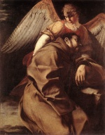 Orazio Gentileschi - paintings - St Francis Supported by an Angel