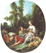 Francois Boucher - Bilder Gemälde - Are They Thinking About the Grape