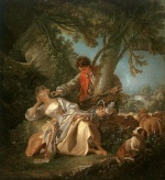 Francois Boucher - Bilder Gemälde - The Interrupted Sleep
